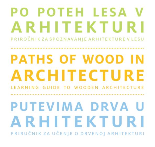 Priročnik Po poteh lesa v arhitekturi