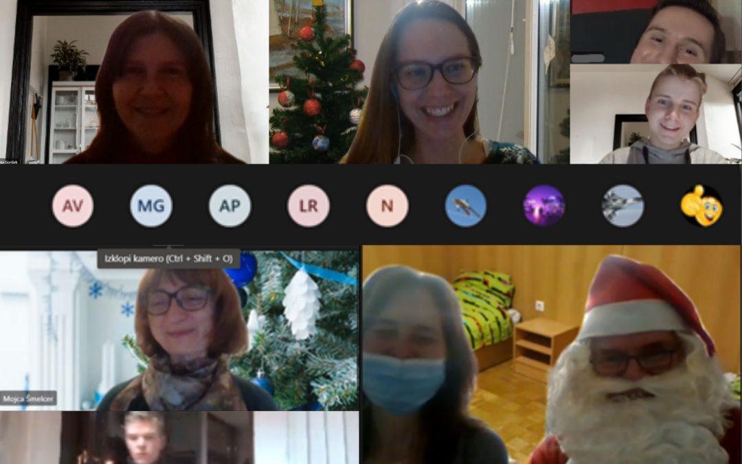 Spletno druženje in obisk Božička
